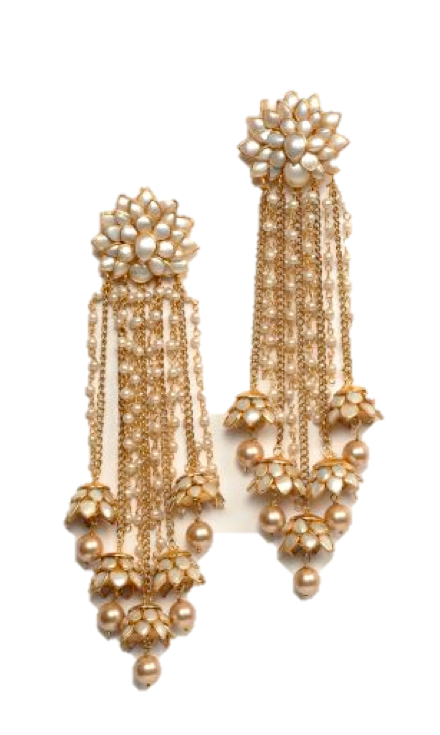 1ae0e9540 Hanging earrings. Hanging earrings India Jewelry, Ethnic Jewelry, Pearl  Jewelry, Bridal Jewelry, Antique Jewelry