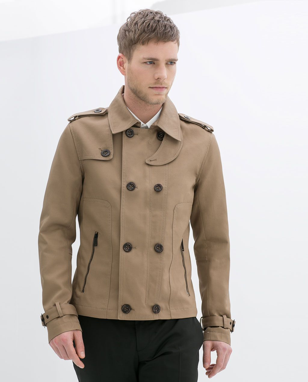 ZARA - MAN - SHORT CROSSOVER TRENCH COAT | Jackets, trench coat ...