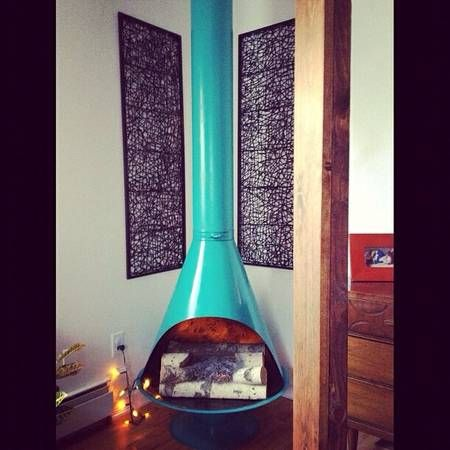 Vintage Cone Fireplace Cheminee