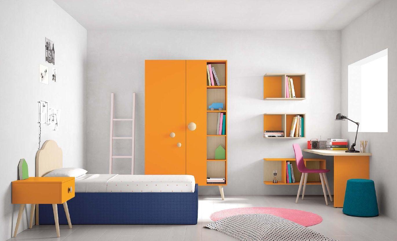 Cameretta arancione ~ Play cameretta nella tinta carota caratterizzante è l armadio