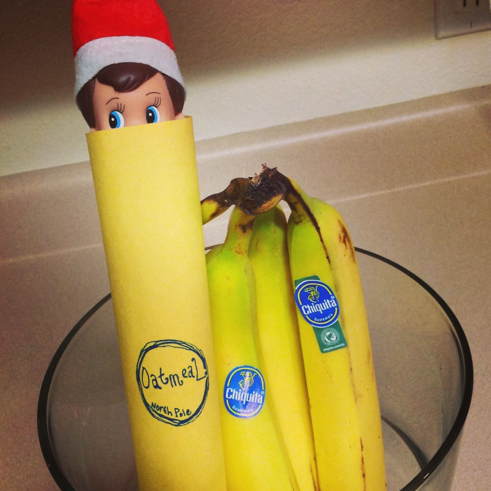 Going Bananas Elf On The Shelf Oatmeal The Elf In 2018 Elf On