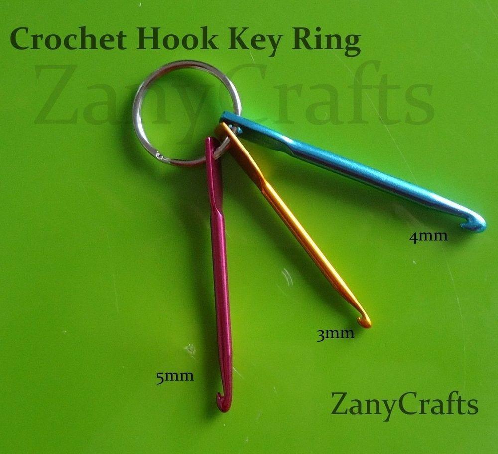Details About Mini Crochet Hook Set Keyring Hook Size 3mm 4mm 5mm 1