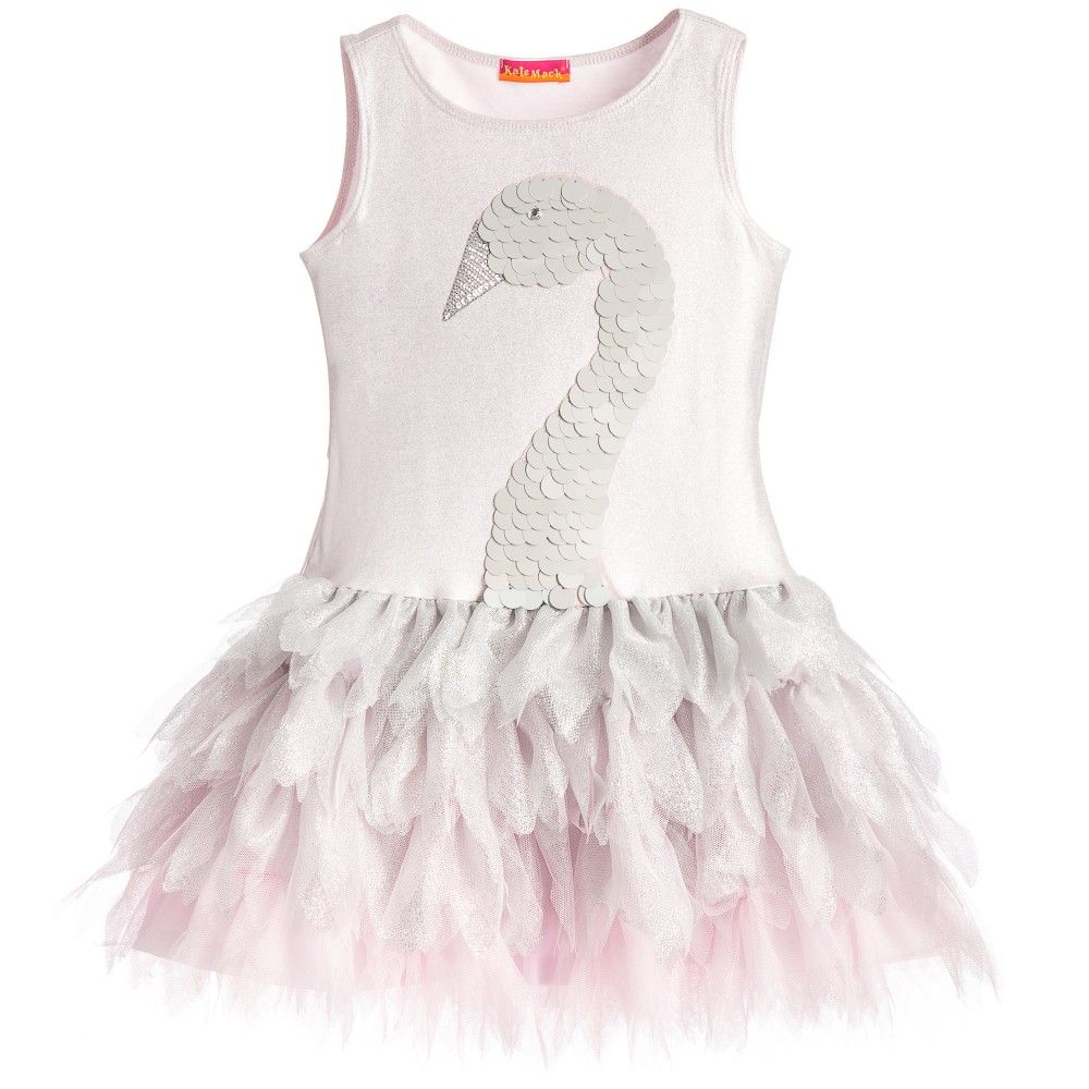 kate mack u0026 biscotti silver u0026 pink u0027swan princess u0027 tutu dress at