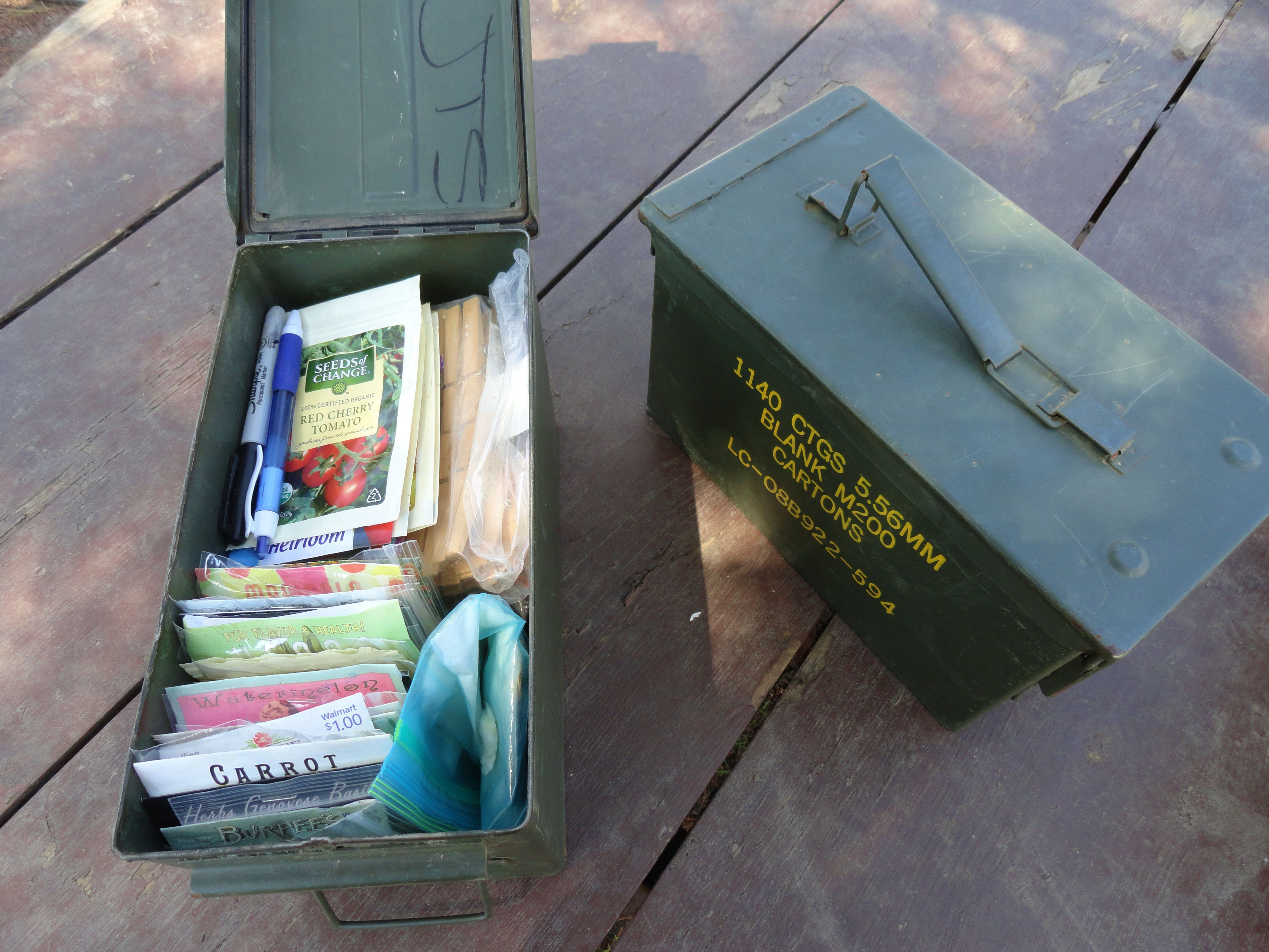 Ammo Can For Seed Storage Moisture And Mouse Proof