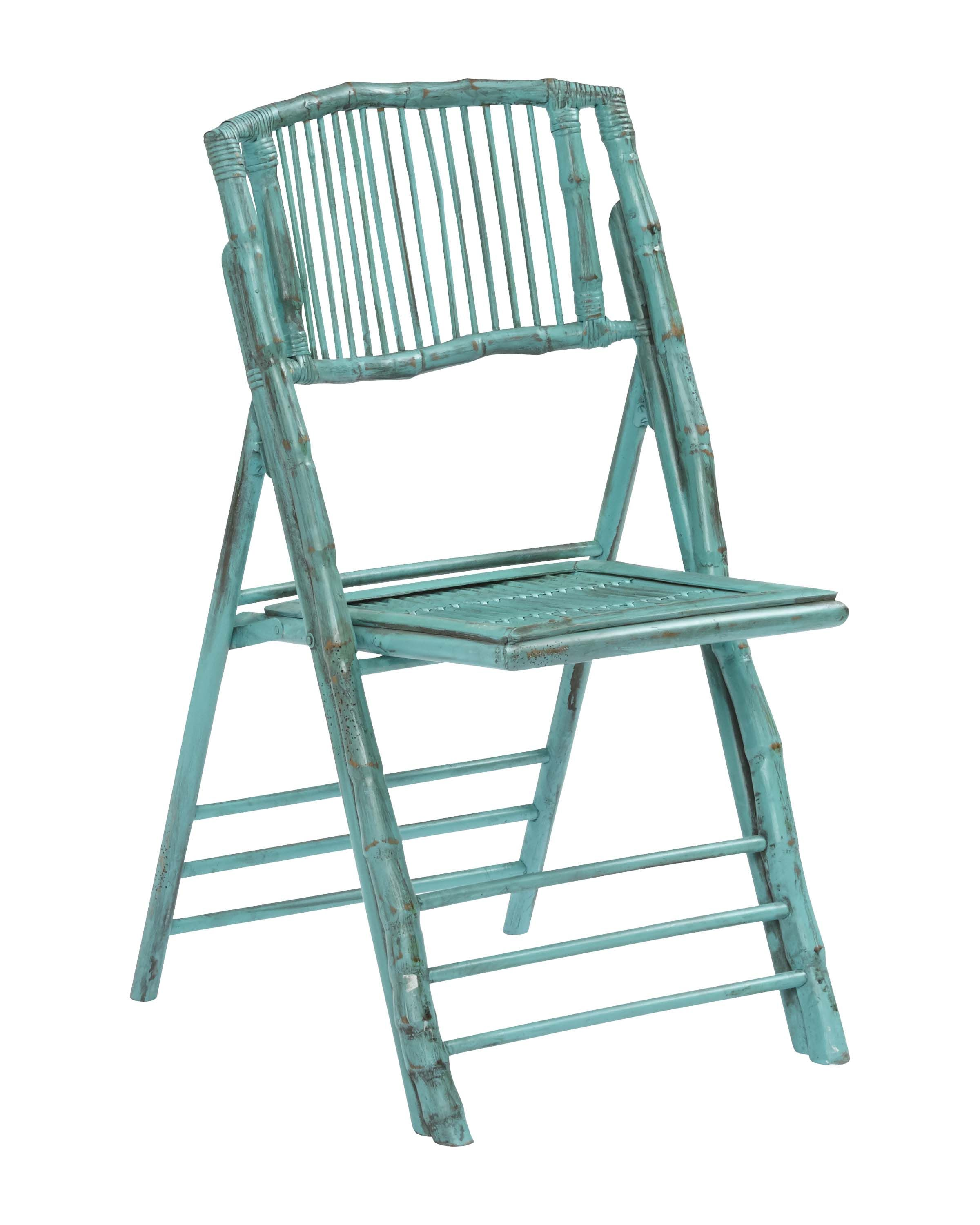 Folding Chair Antique Turquoise