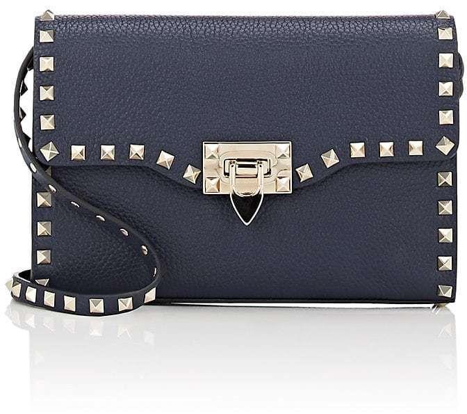3de4dca2f2004 Valentino Garavani Women's Rockstud Medium Crossbody Bag Navy Blue Valentino  Purse