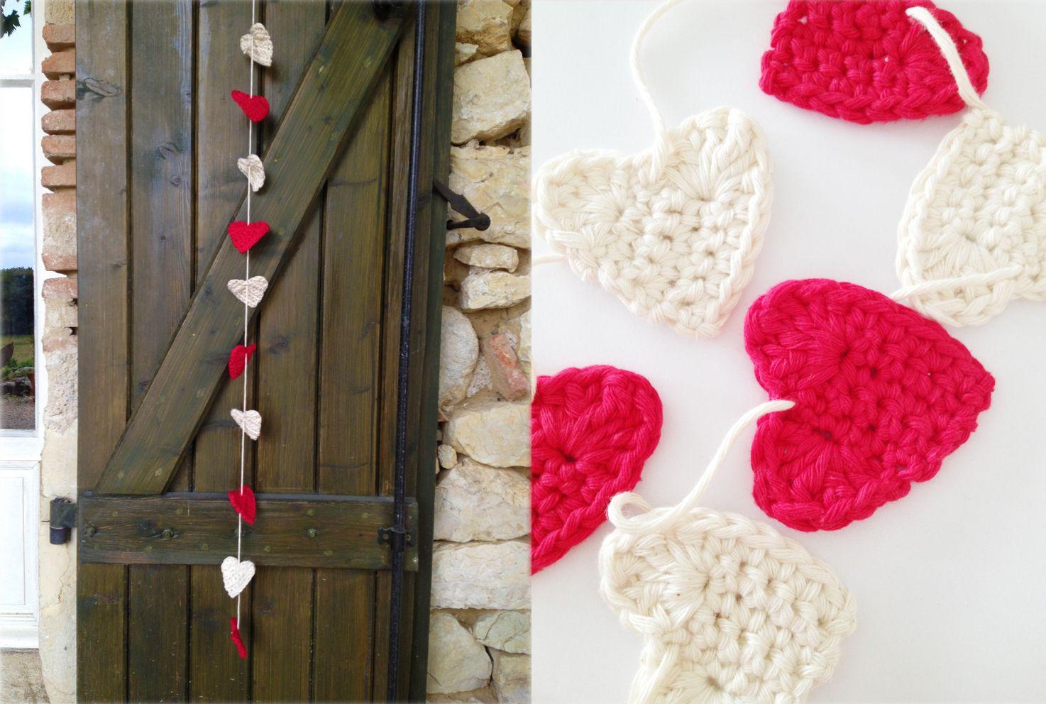 Annemarie\'s Haakblog: heart garland   Valentine\'s   Pinterest   Free ...