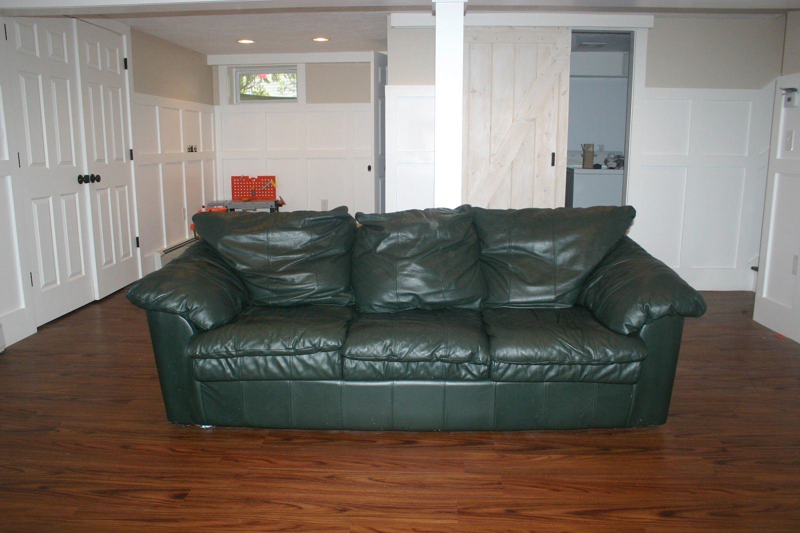sage leather sofa best way to clean pillows green living room