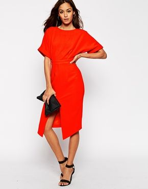3f89f0421c ASOS Wiggle Dress With Split Front