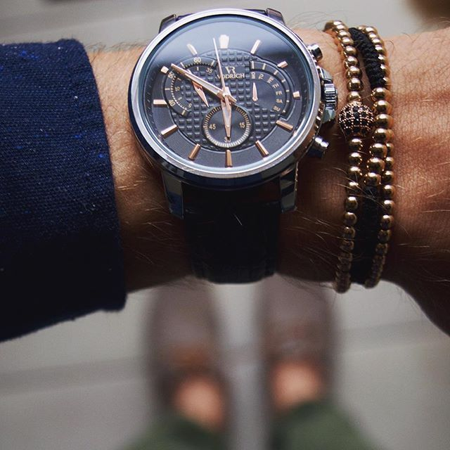 Style of the DayElevate your wrist game with our Aviator Compass timepiece paired with Rose Gold Macrame Stack. #vodrich