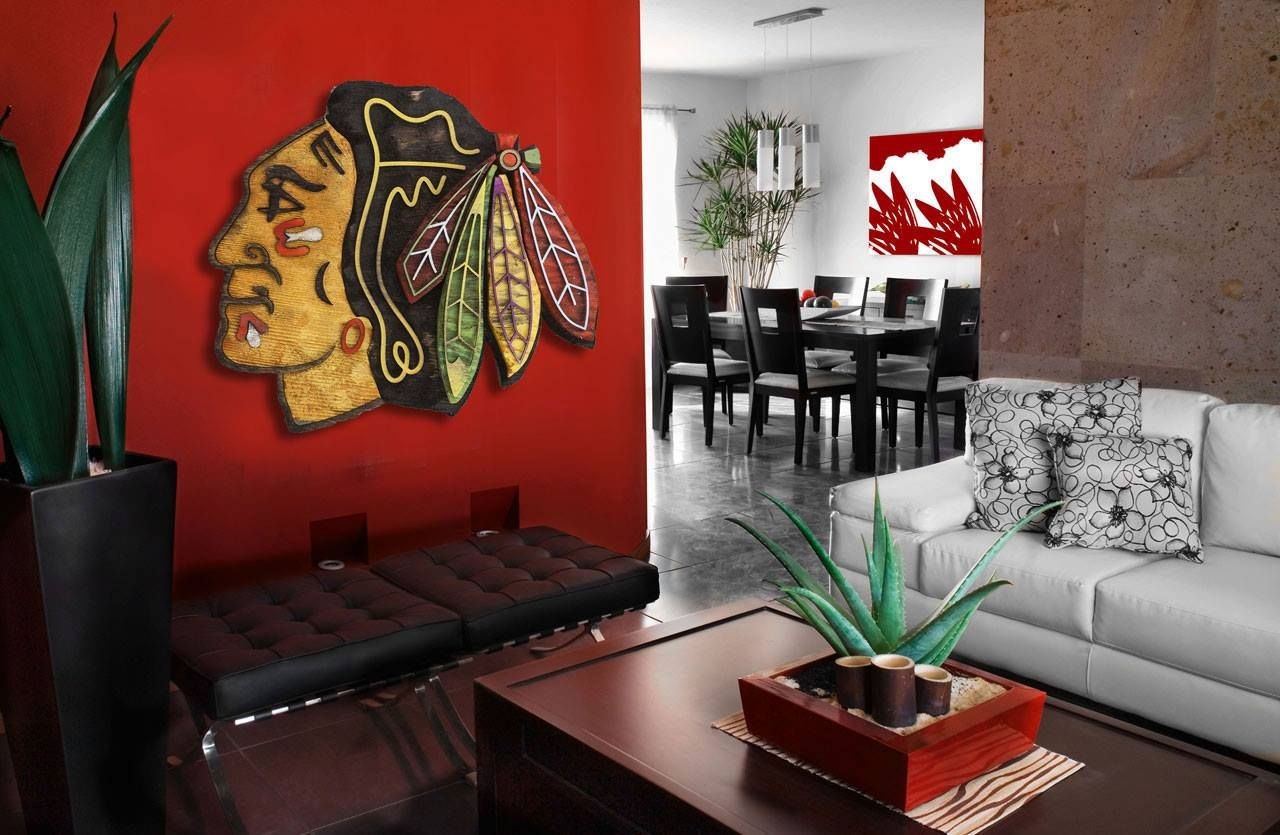 Chicago Blackhawks Hockey Handmade Distressed Wood Wall Art More Items Can  Be Found Here: Www