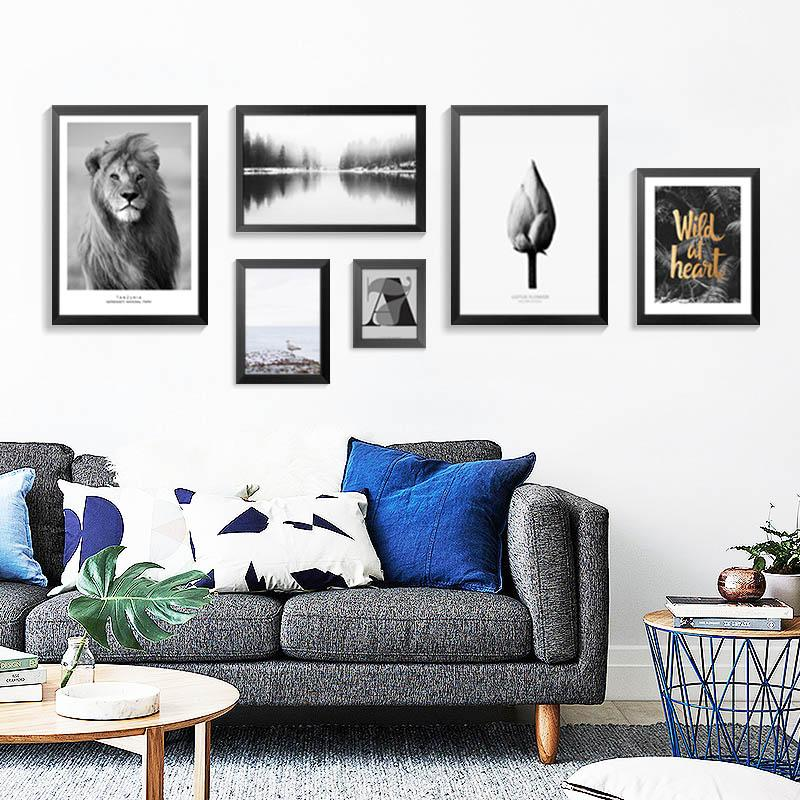 Nordic Decoration Modern Lion Animal Wall Art Canvas Painting Wall Pictures For Living Room Posters And Prints No Poster Frame Elegant Wall Art Living Room Pictures Room Posters #paintings #with #frame #for #living #room