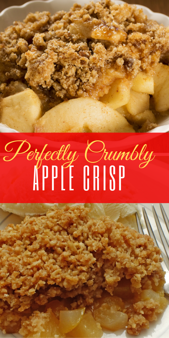 Easy Perfectly Crumbly Apple Crisp  #applecrisp
