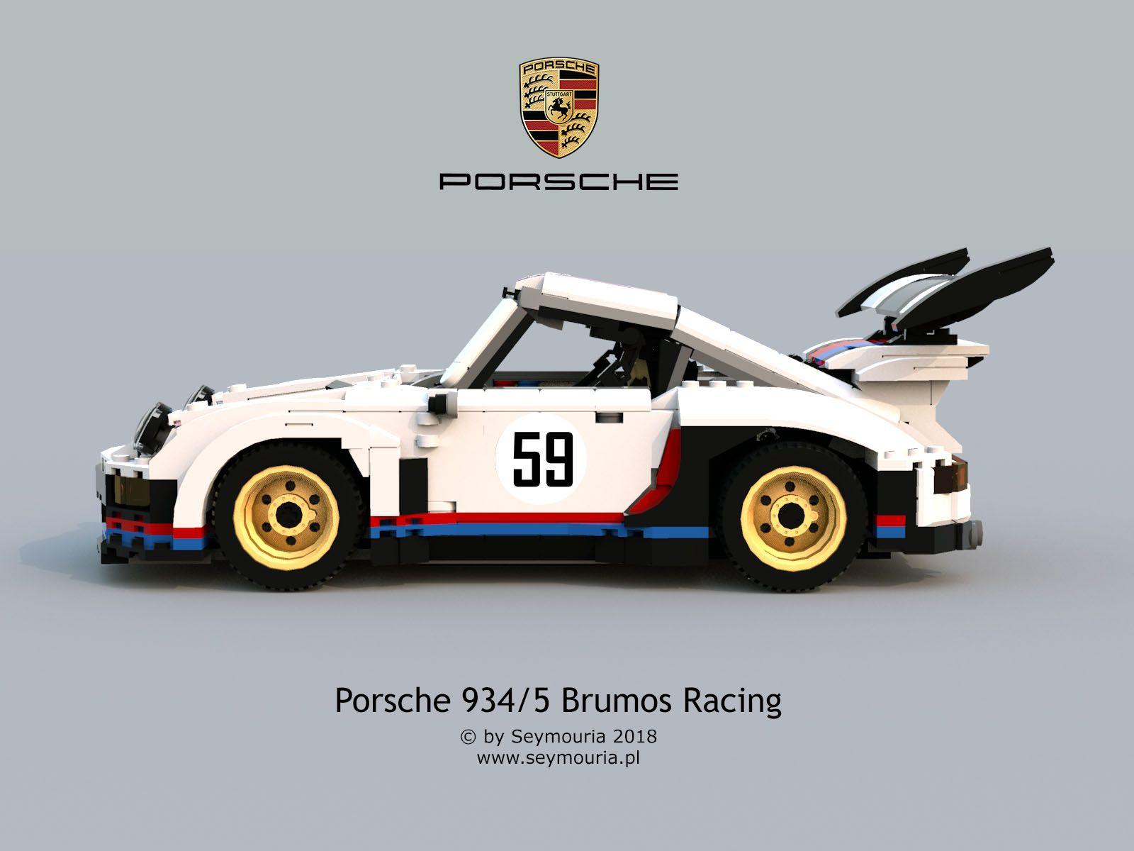 Porsche 934/5 Brumos Racing by Seymouria 2018 Lego Sport