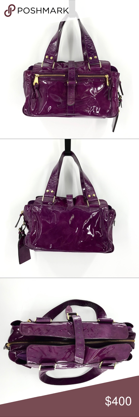 Mulberry Mabel patent leather handbag in wine The Mabel purse from Mulberry  in a purple wine dd0180df449a2