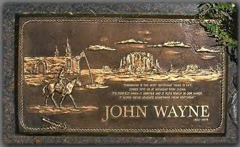 Famous Headstones Yahoo Image Search Results Famous Tombstones Famous Graves John Wayne