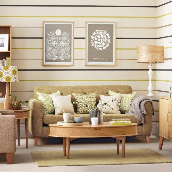 Sala pequeña en verde claro salas vintage Pinterest Verde - salas vintage