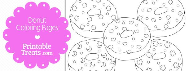 Free Printable Donut Coloring Pages Donut Coloring Page Free