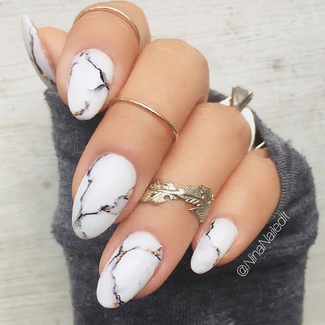 Marble Nails: Easy Way to Create Trendy Manicure   Belleza
