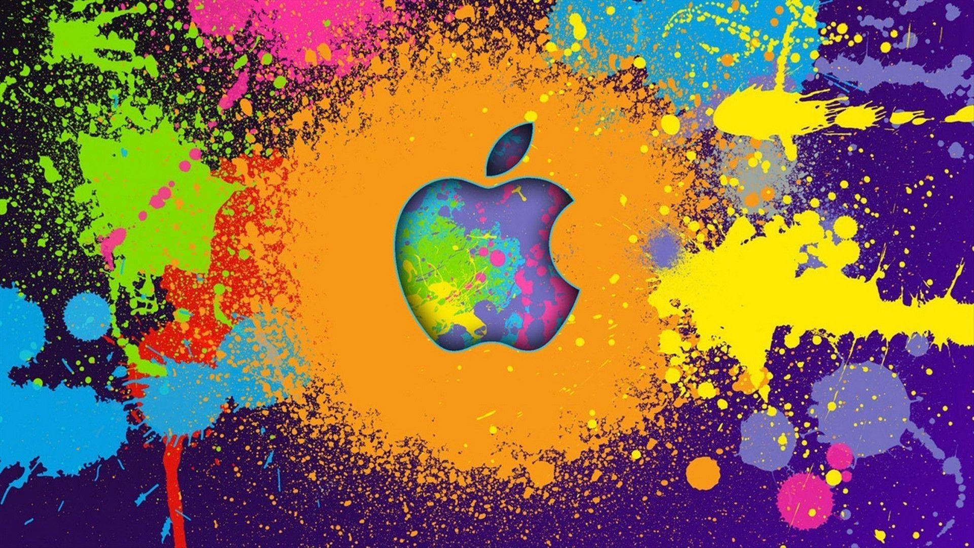Graffiti Characters Wallpaper HD Apple logo wallpaper