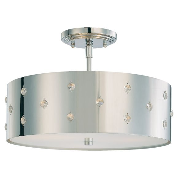 If you like mid-century modern, then this is a good candidate for your daughter's room, if you don't like the flower idea.  It's a fun fixture... $230 -------------- Bling Bling by George Kovacs .............. 3 Lights Semi Flush Mount