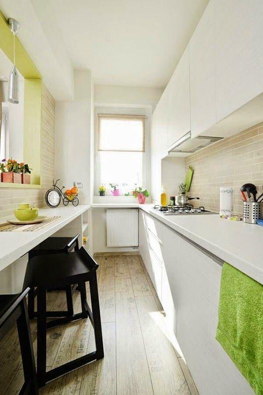 Inspírate: Cocinas ESTRECHAS | Cocina estrecha, Cocina pequeña y Cocinas