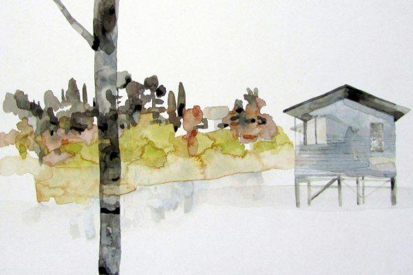 Kate Evans - Riverside Hut