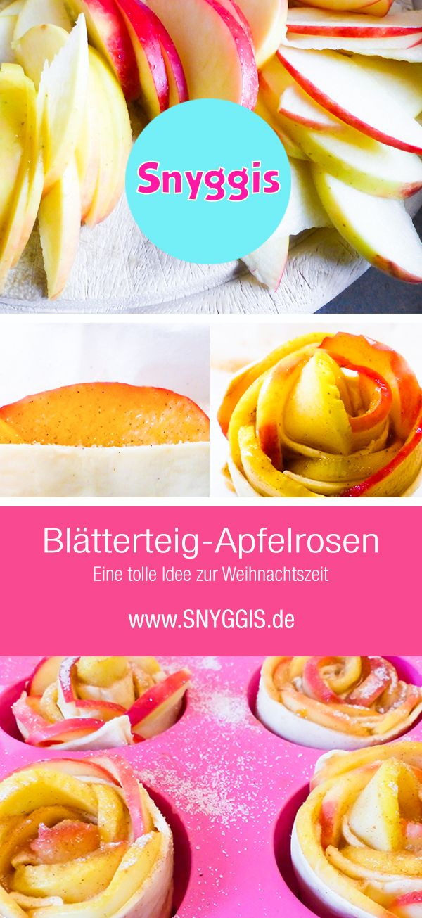 Blätterteig-Apfelrosen #blätterteigrosenmitapfel