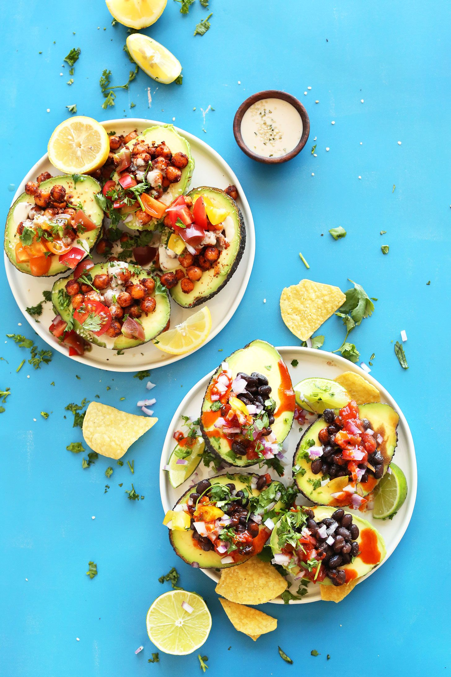 Avocado boats 2 ways recipe avocado boats plant based meals 30th simple 30 minute sisterspd