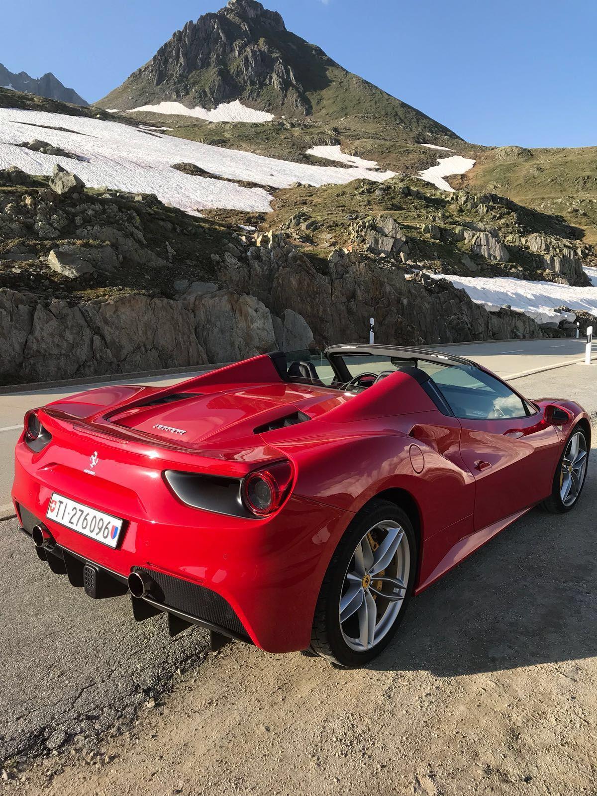 A Ferrari Will Always Take You To The Top Ferrari Spider Sportscar Convertible Luxurycar Rent Swiss Car Travel Italian Sportwagen