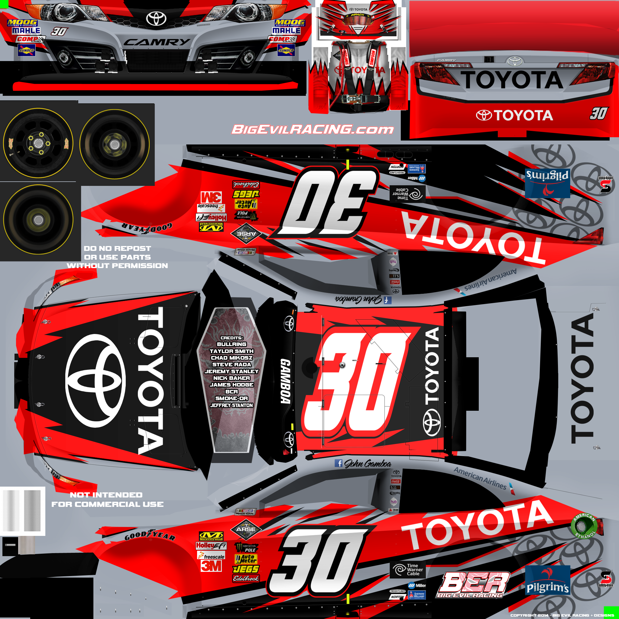 NASCAR 2016 Templates | nr2003 toyota template #7 | Paper ...