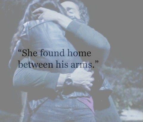 aria montgomery, arms, ezra fitz, ezria, home, hug, love ...