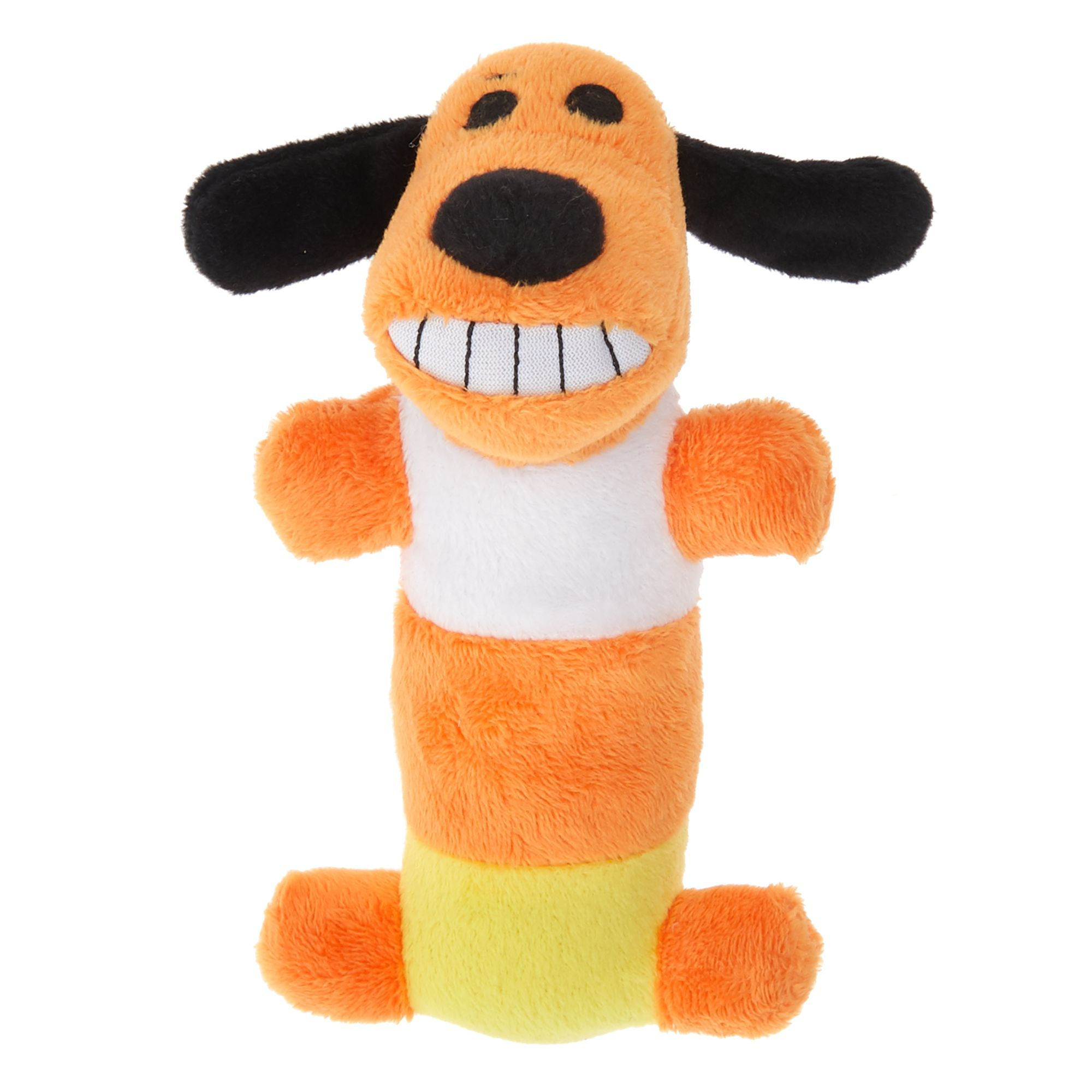 Bobo Halloween Candy Corn Dog Toy Plush Squeaker Size Small