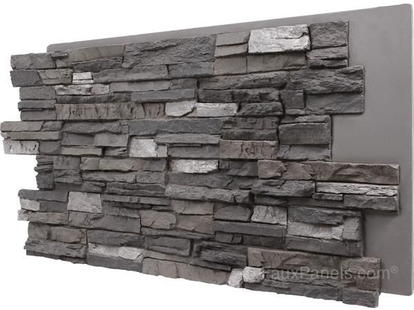 Faux Panels That Replicate The Look Of Real Stacked Stone With Quiet Earth Tones To Make Any Home Feel Grou Faux Stone Panels Faux Panels Stone Panels Exterior