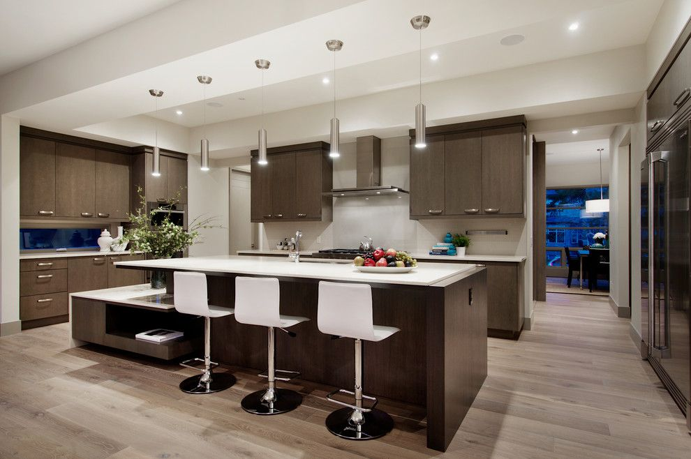 Glamorous Hardwood Floor Color Inspiration Contemporary Kitchen Kitchen Cabinets Decor Kitchen Layout