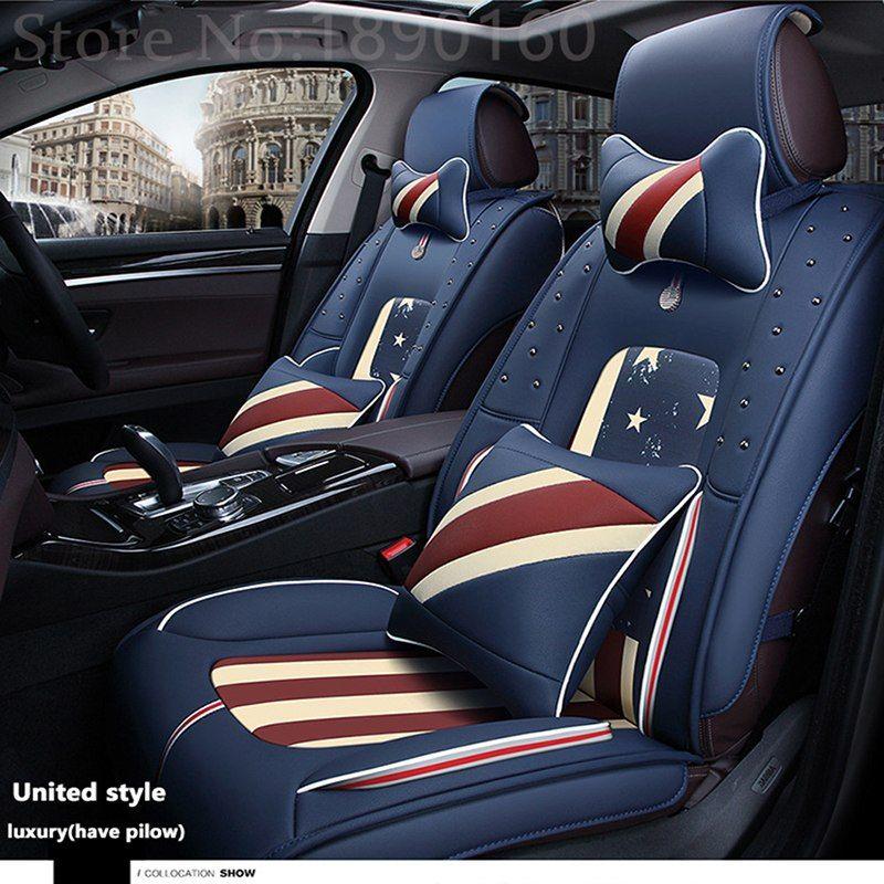 Front Rear Special Leather Car Seat Covers For Hyundai Solaris Ix35 I30 Ix25 Elantra Accent Tucso Leather Car Seat Covers Carseat Cover Leather Car Seats
