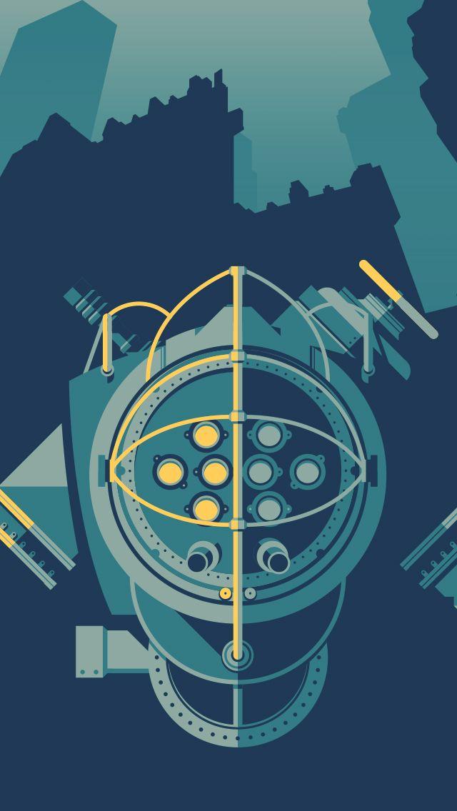 Dribbble Bigdaddy Wallpaper Jpg By Justin Mezzell Bioshock Bioshock Art Game Art