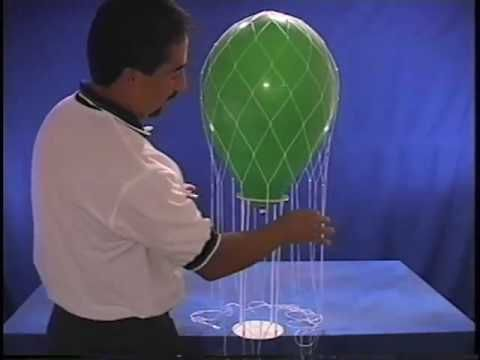 How to make a hot air balloon centerpiece with ribbon or for Balloon nets for centerpieces
