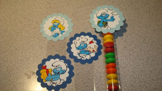 Smurf Candy Tubes by threeofakindmunchkin on Etsy, $4.80