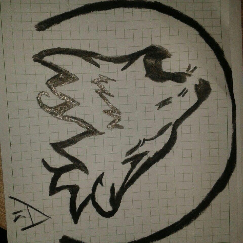 Wolf Bleistift Tattoo