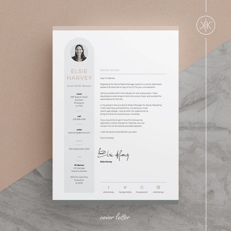 Elsie Resume/CV Template Word InDesign