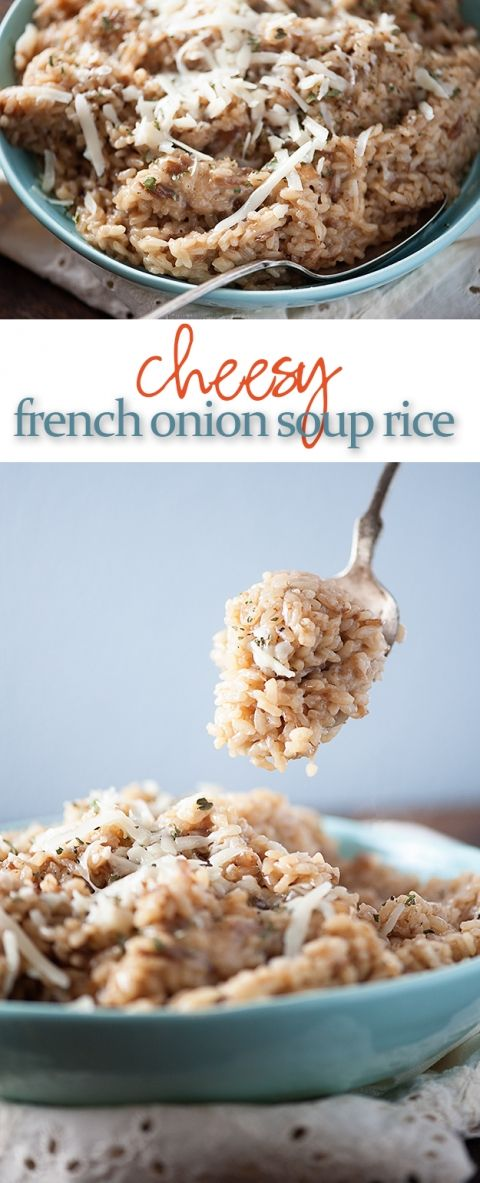 This Baked Rice Recipe Is Full Of Cheese And Onion Soup It S An Easy Hands Off Dinner Recipe