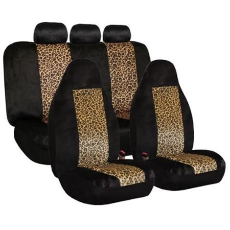 Amazing Fh Group Classic Leopard Print Full Set Car Seat Covers Dailytribune Chair Design For Home Dailytribuneorg