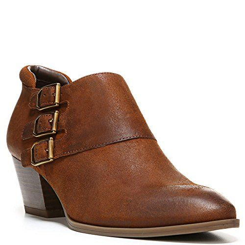 Genna Womens Ankle Booties Tan Leather