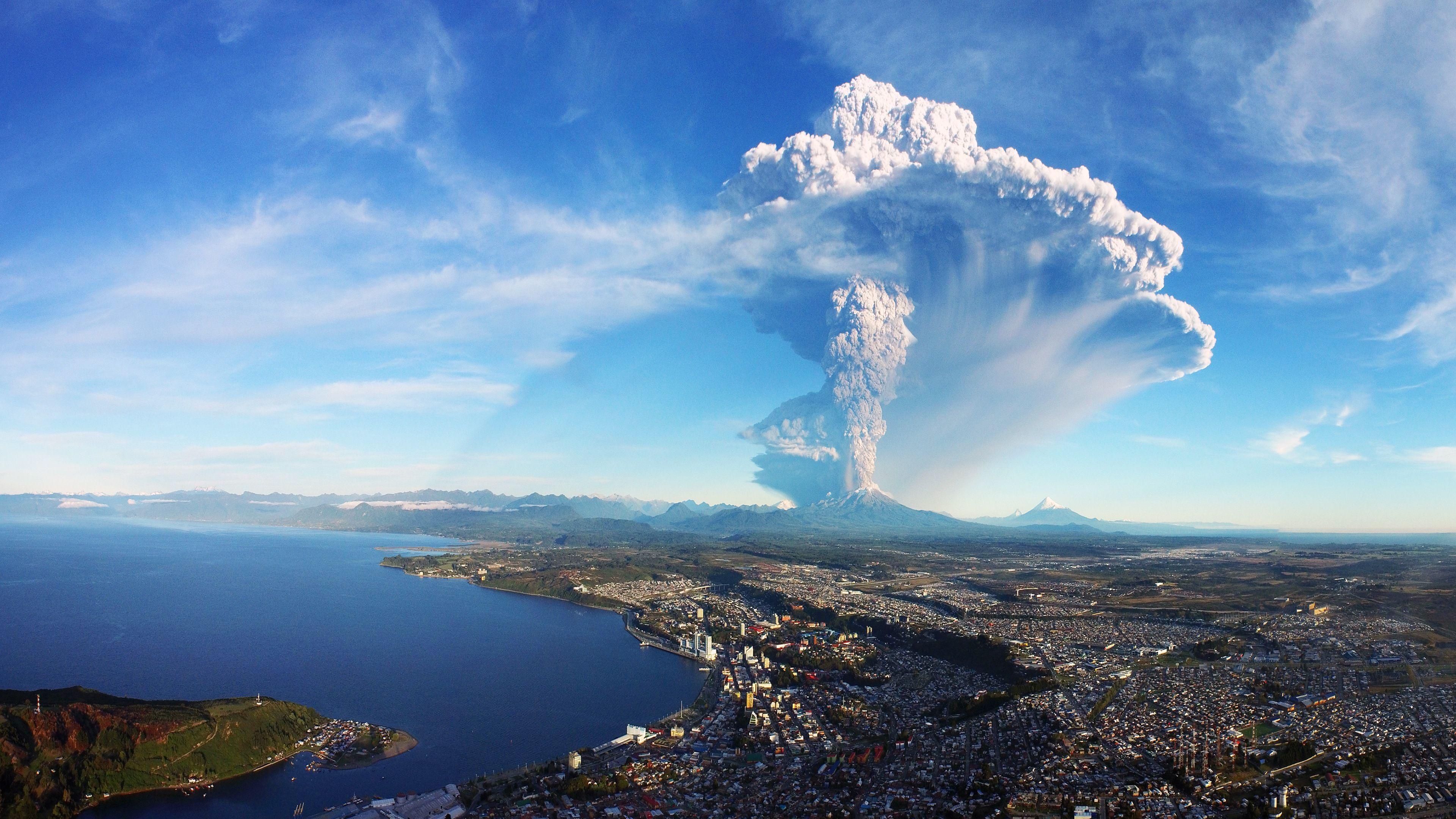 Landscape 4K Ultra HD Wallpaper | ... Eruption Chile 4K ...
