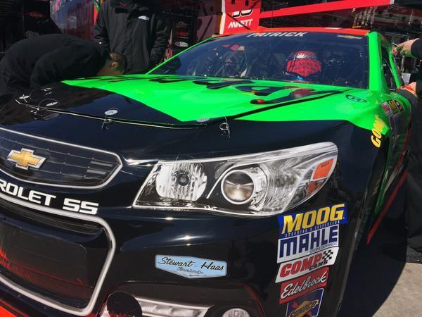 Danica Patrick gets ready to wheel the #10 GoDaddy Chevy around Atlanta Motor Speedway, 2/27/2015