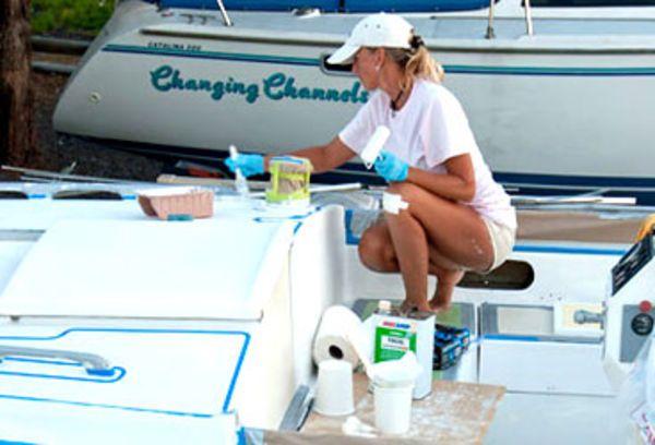 How to Paint Sailboat Decks | Sailboat restoration, Boat ...