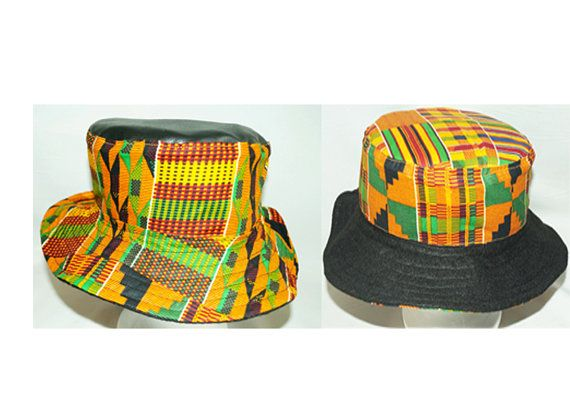 Reversible Kente Bucket Hat by TribesOfKin on Etsy  87b749dd596