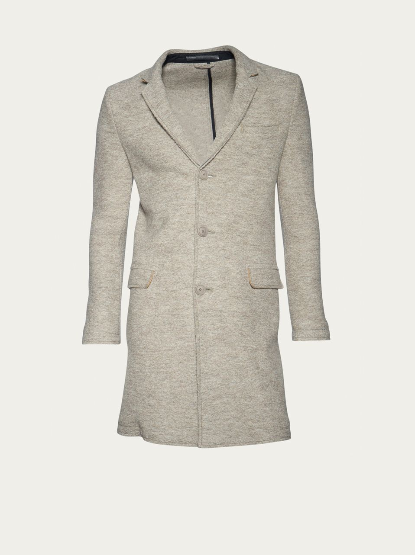 Mantel beige meliert