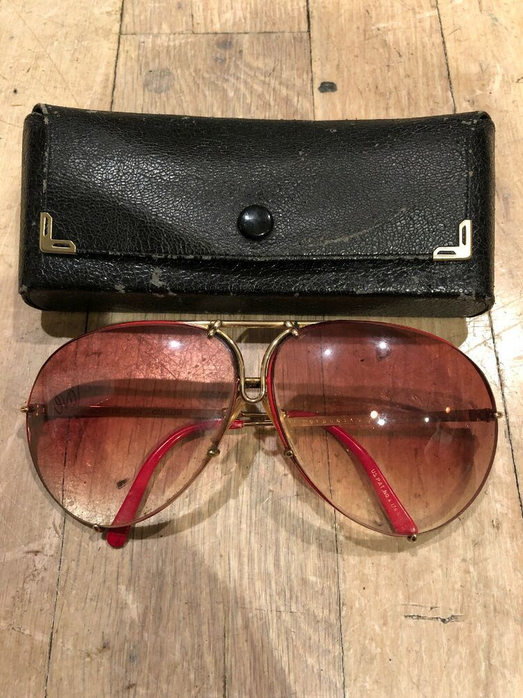 6805cbaaa80f VINTAGE PORSCHE DESIGN by CARRERA SUNGLASSES AVIATOR 5621 AUSTRIALARGE RED   fashion  clothing  shoes